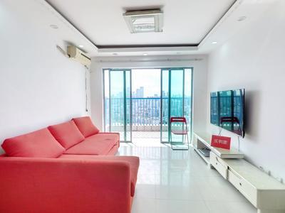 对面来福士,现代城华庭两房,厅出阳台采光好,拎包入住-深圳现代城华庭租房