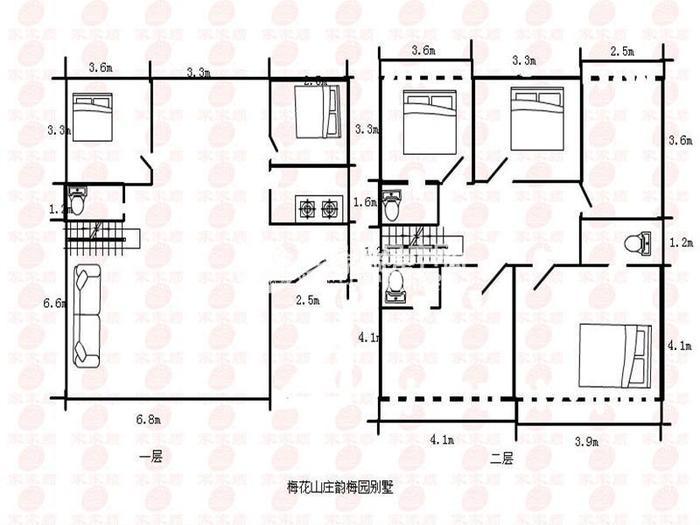 梅花山莊戶型圖