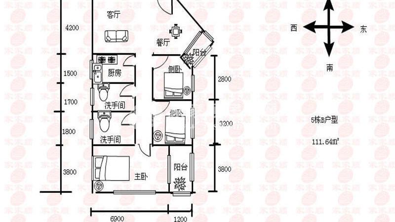 百花公寓户型图