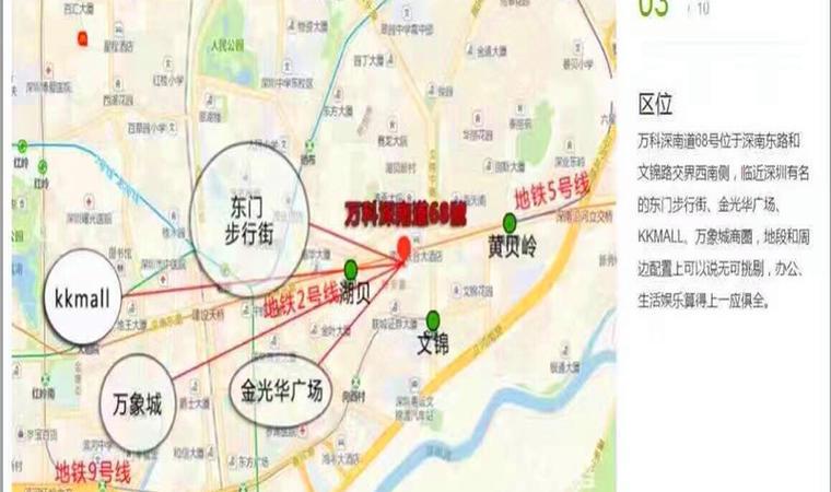 万科深南广场区位图