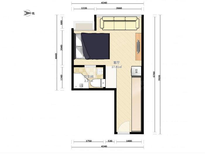 星宝明珠公寓户型图