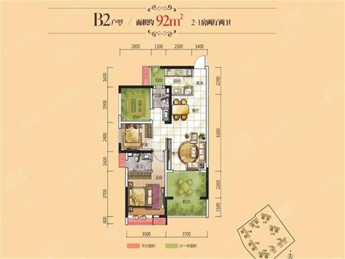 龙光城北十一期户型图