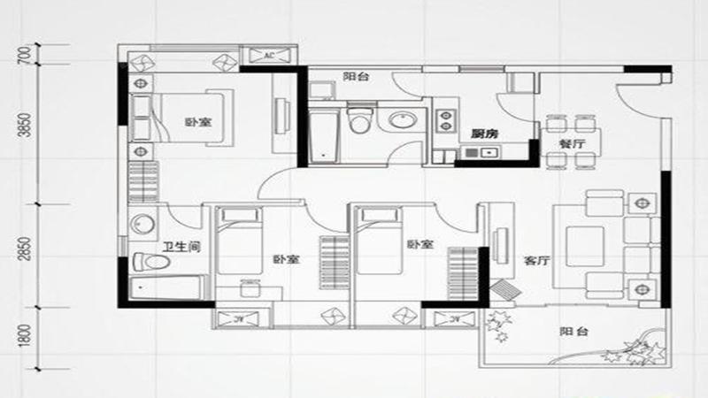 凯东新城四期户型图