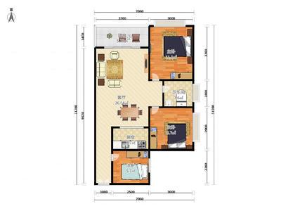 盛业豪园 3房2厅2卫 86㎡-惠州盛业豪园二手房