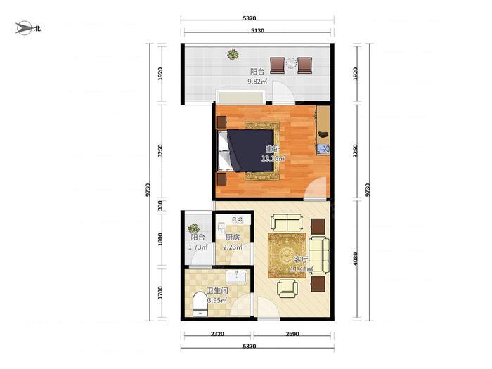 四海公寓户型图