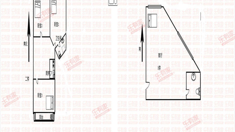 荔景大厦温馨复式房、交通便利、居住舒适,旁边荔枝公园,大剧院