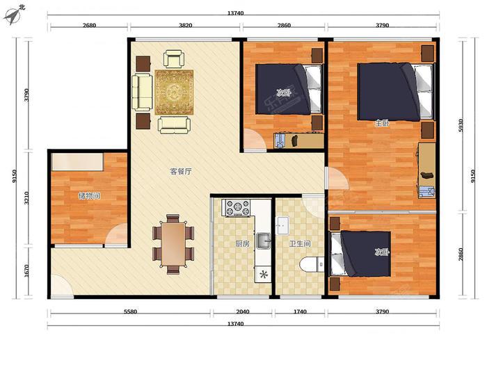 寶安24區住宅樓戶型圖