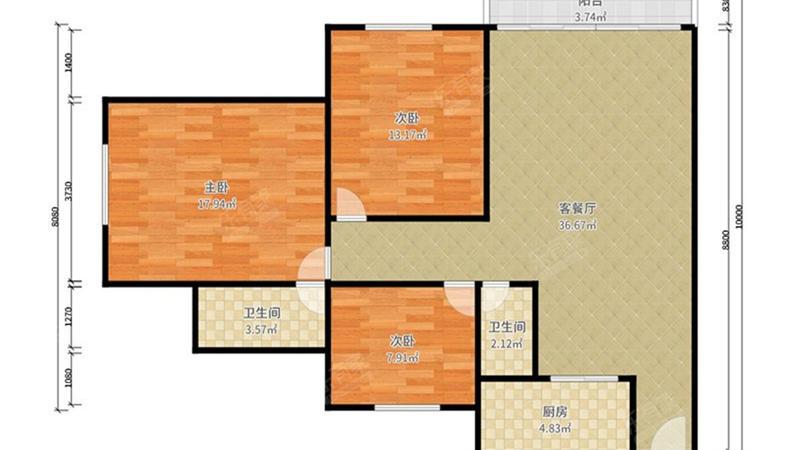 金桂小区户型图