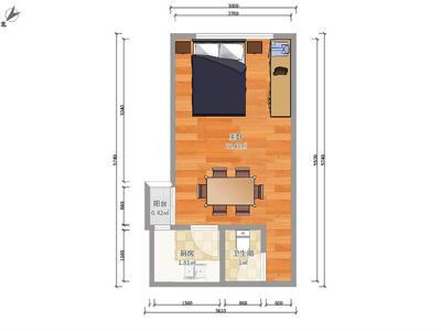 地铁口物业1房、业主诚心出租、拎包入住、-深圳瑞景华庭租房