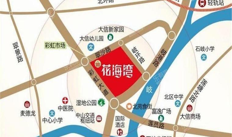 花海湾花园位置图1
