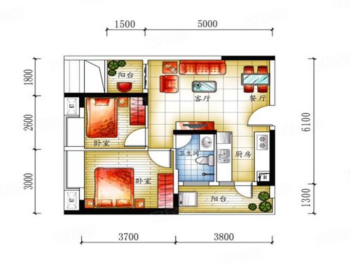 清泉城市广场户型图