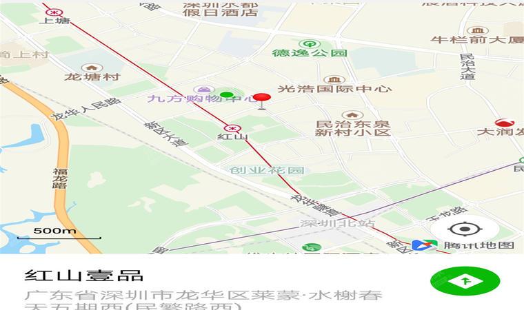 红山6979商业中心(一期)商务公寓位置图