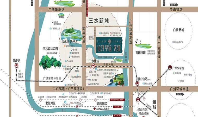 远洋江玥花园位置图1