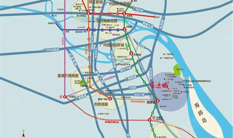 亚运城位置图3