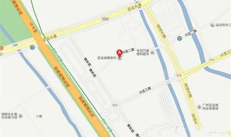 亚运城位置图1