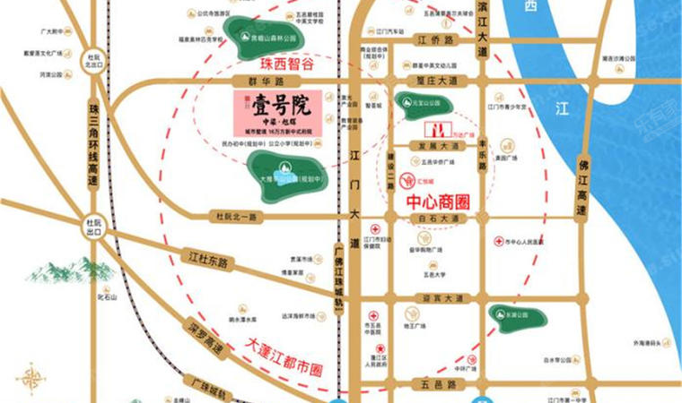雅滨园位置图