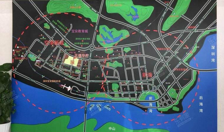 天福华府区域图