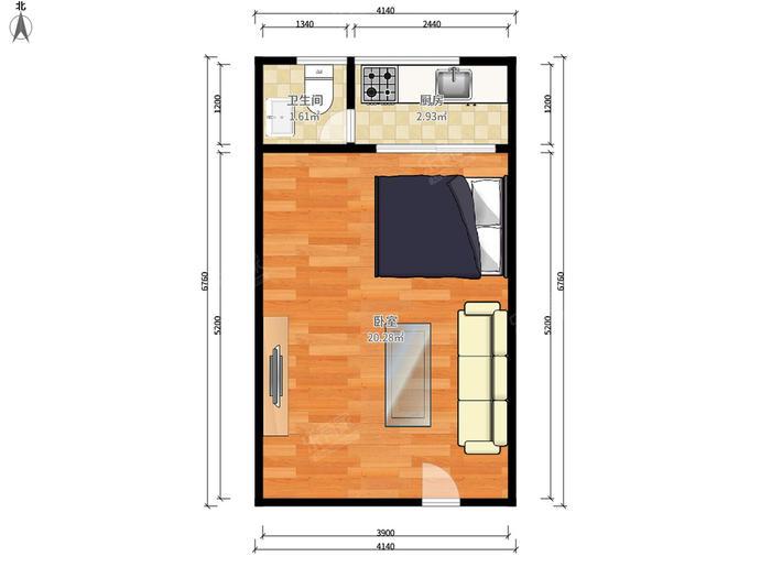 鹏基公寓(八卦岭)户型图