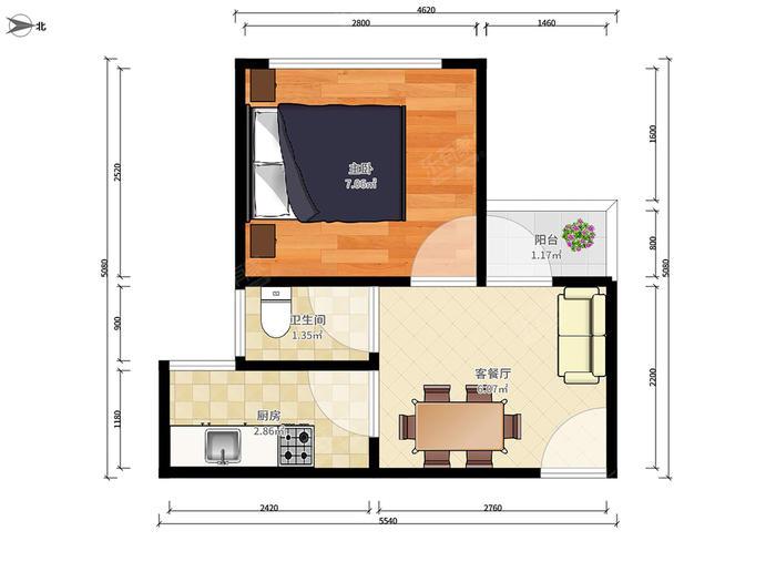 深蓝公寓户型图
