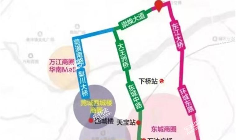 东江华府位置图1