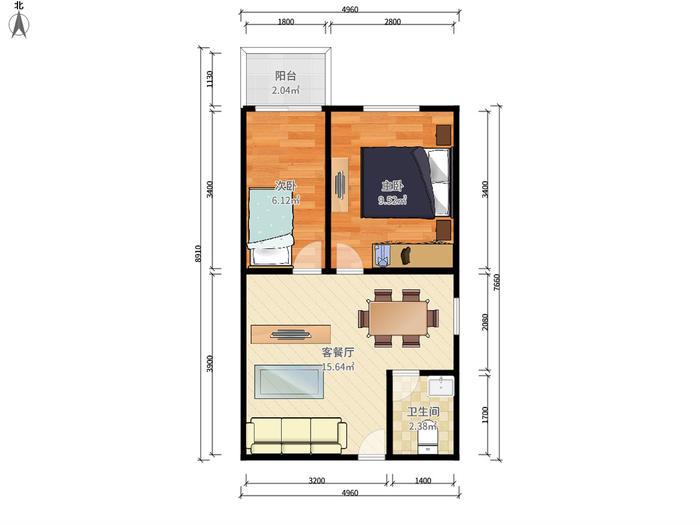 豪派特公寓户型图